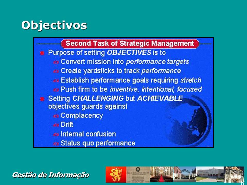 11 Gestão de Informação Objectivos