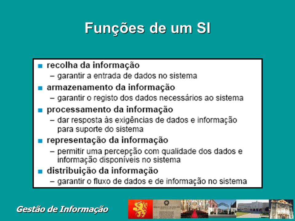 Gestão de Informação Funções de um SI