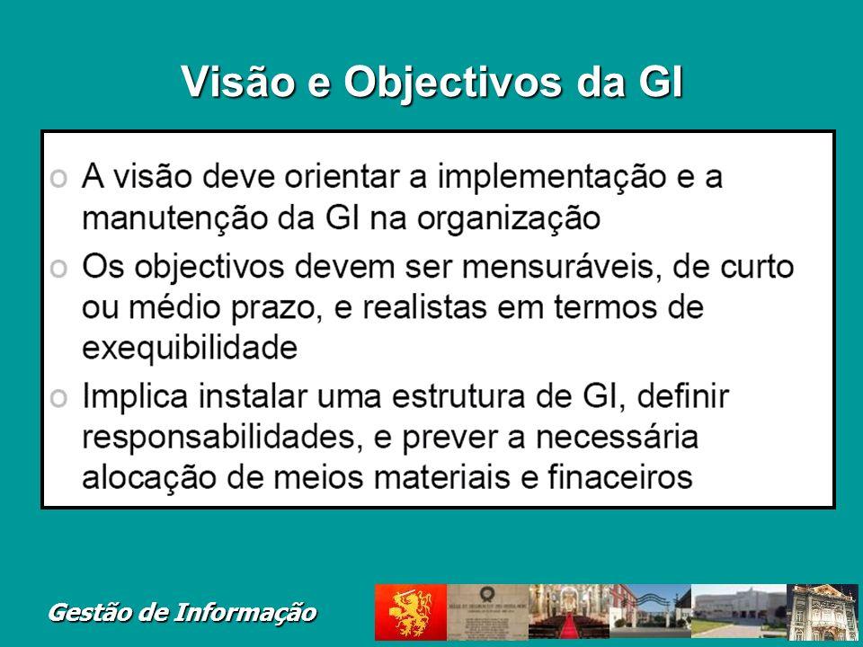 Gestão de Informação Visão e Objectivos da GI