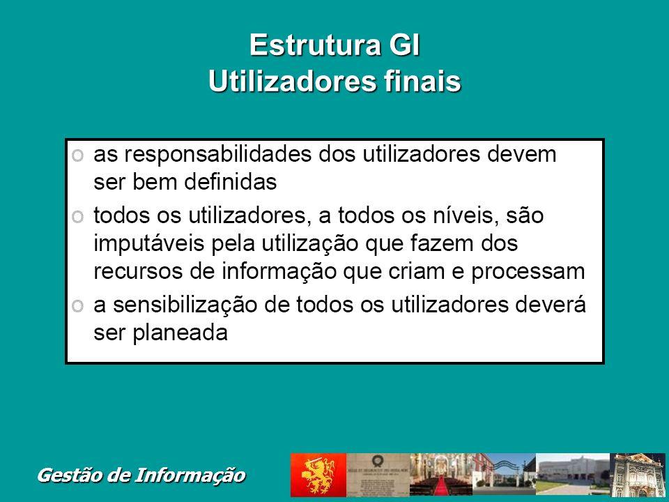 Gestão de Informação Estrutura GI Utilizadores finais