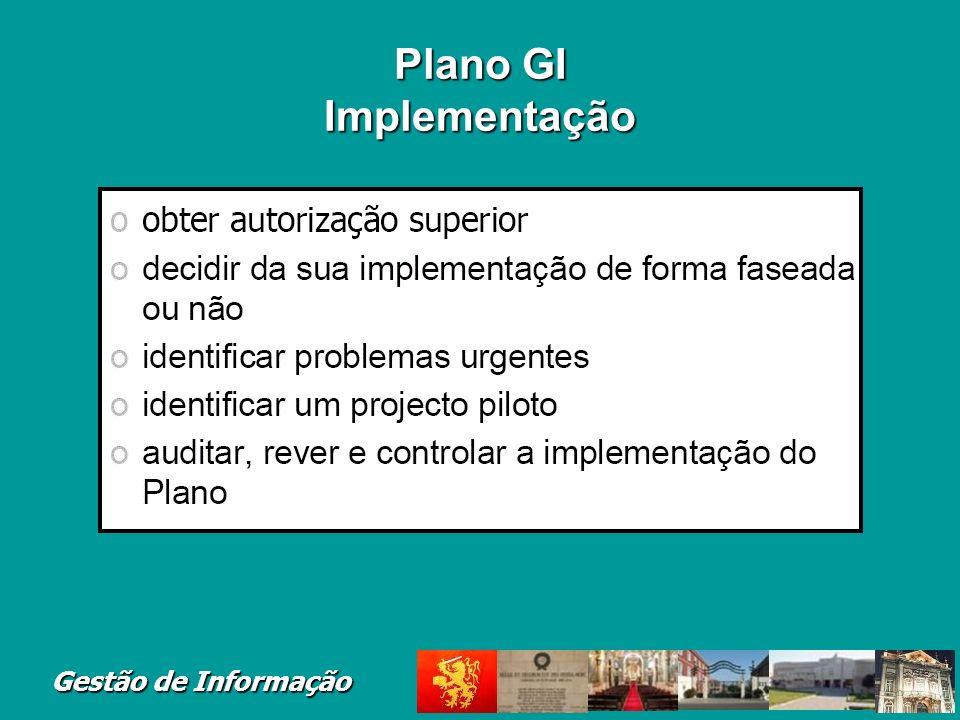 Gestão de Informação Plano GI Implementação