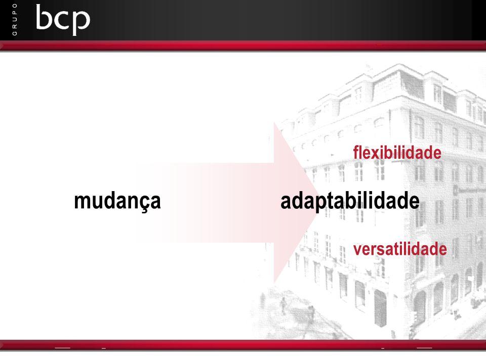 G R U P O mudança adaptabilidade flexibilidade versatilidade