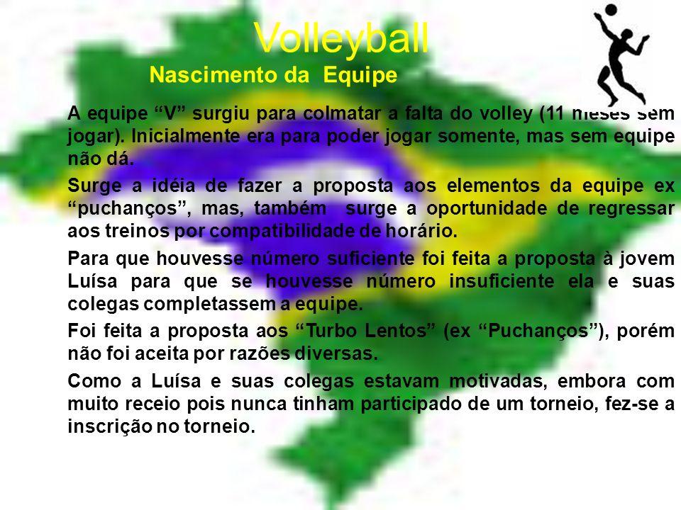 Volleyball A equipe V surgiu para colmatar a falta do volley (11 meses sem jogar).