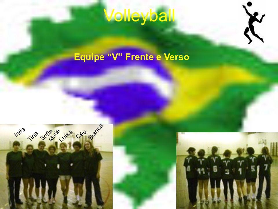 Volleyball Equipe V Frente e Verso Inês Tina Sofia Maria Luísa Céu Bianca