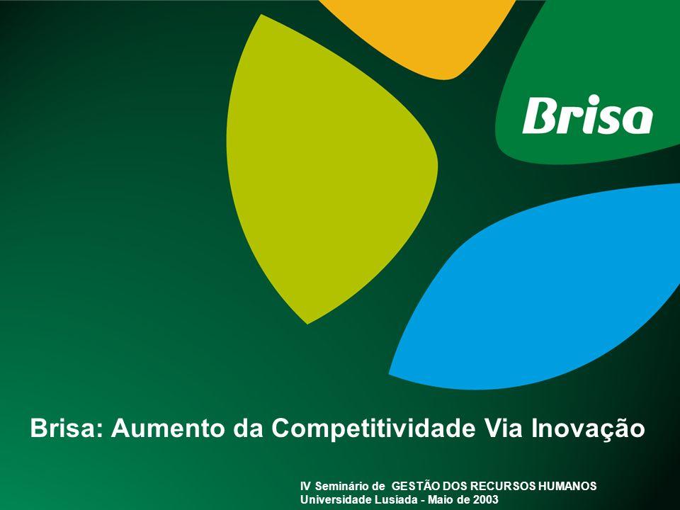 Pág. 1 Brisa: Aumento da Competitividade Via Inovação IV Seminário de GESTÃO DOS RECURSOS HUMANOS Universidade Lusíada - Maio de 2003
