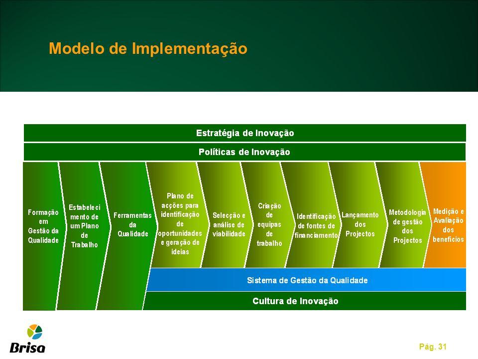 Pág. 31 Modelo de Implementação