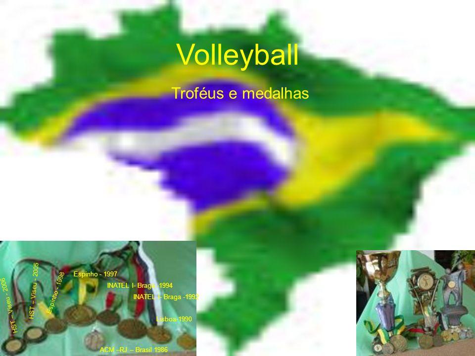 Volleyball Troféus Da esquerda para a direita: Jornadas de Medicina Desportiva de Espinho- 1997 Jornadas de Medicina Desportiva de Espinho- 1998 Torneio de voley de praia de Oliveira de Frades 2006