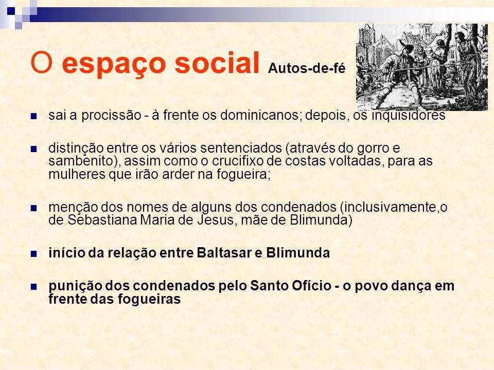 O espaço social Autos-de-fé sai a procissão - à frente os dominicanos; depois, os inquisidores distinção entre os vários sentenciados (através do gorr