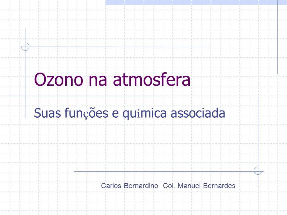 Ozono na atmosfera Para além da sensibilização para a importância da molécula de ozono, a presente unidade pretende dar aos alunos a noção de que......