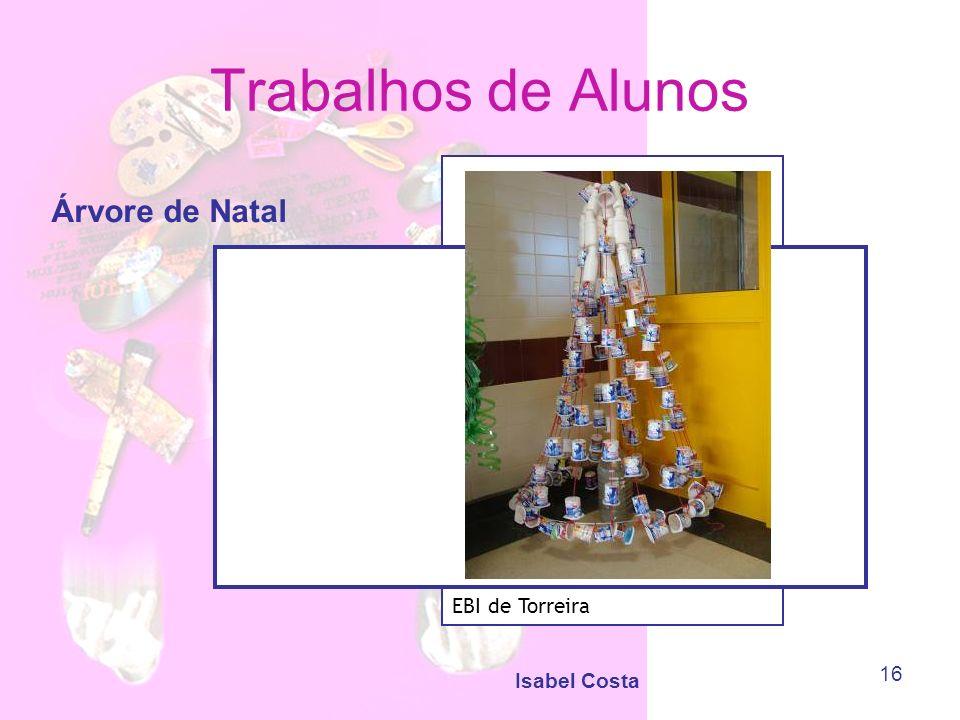Isabel Costa 16 Trabalhos de Alunos Árvore de Natal EBI de Torreira