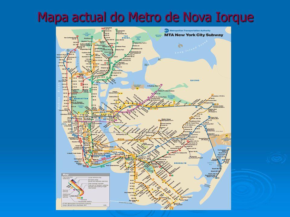 Mapa actual do Metro de Nova Iorque