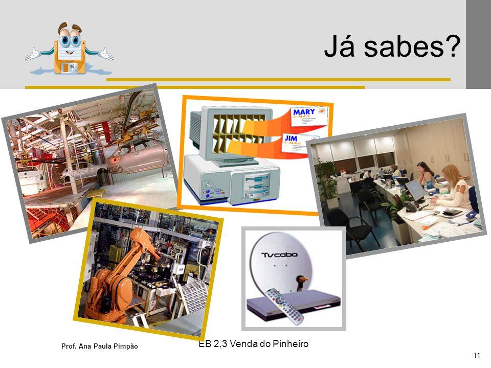 Prof. Ana Paula Pimpão 11 EB 2,3 Venda do Pinheiro Já sabes?