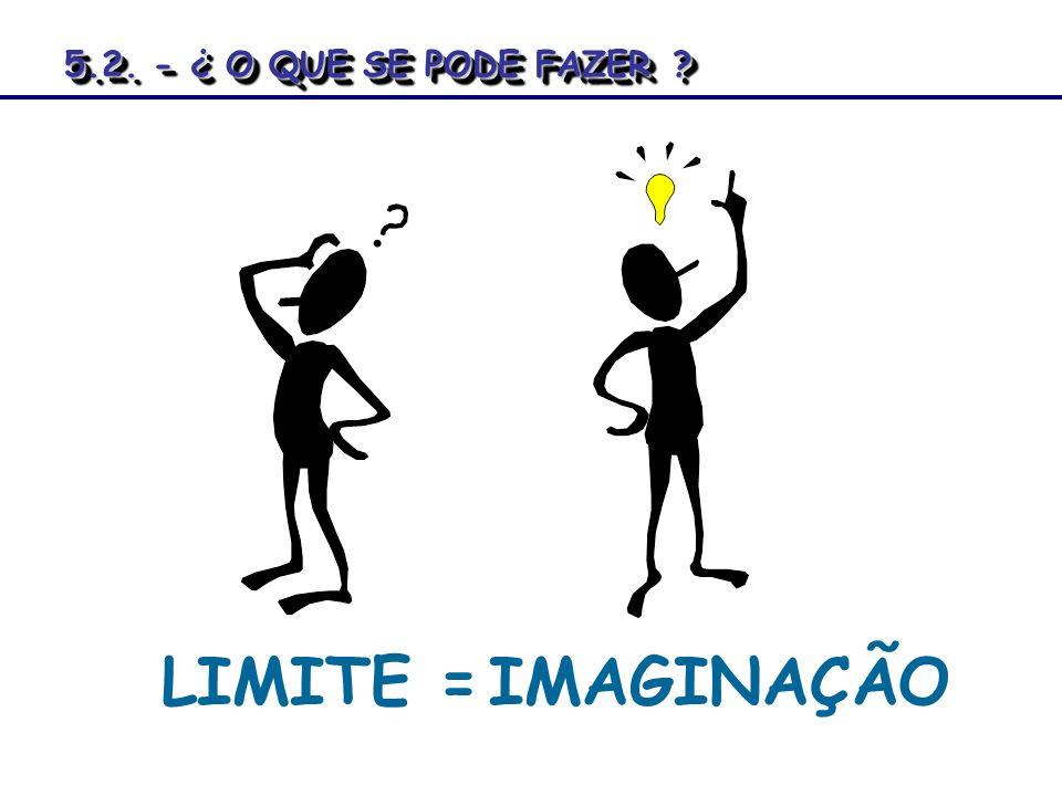 LIMITE =IMAGINAÇÃO 5.2. - ¿ O QUE SE PODE FAZER? 5.2. - ¿ O QUE SE PODE FAZER ?
