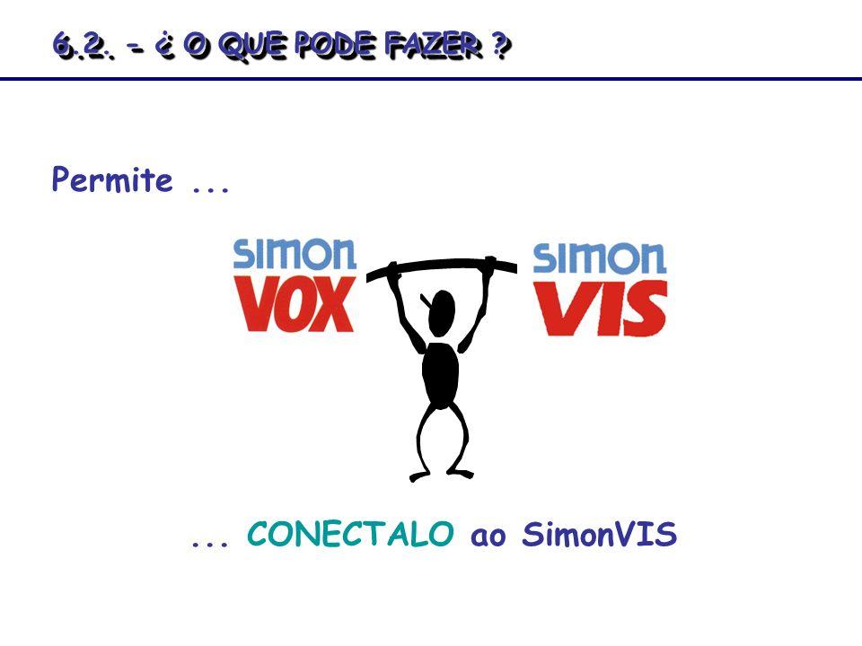 Permite...... CONECTALO ao SimonVIS 6.2. - ¿ O QUE PODE FAZER ?