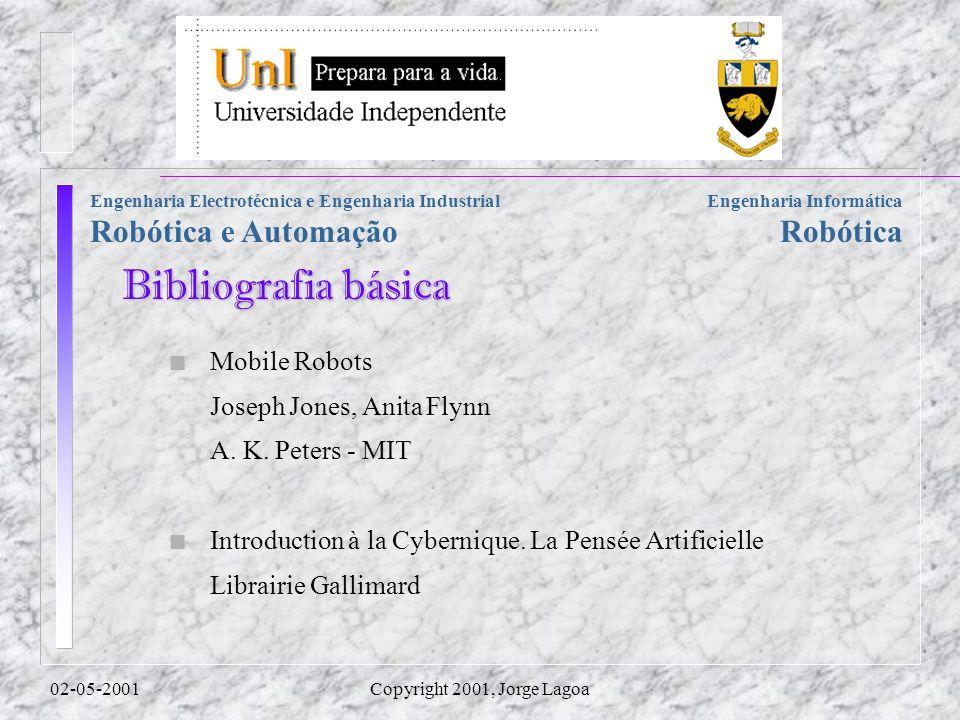 Engenharia Informática Robótica Engenharia Electrotécnica e Engenharia Industrial Robótica e Automação 02-05-2001Copyright 2001, Jorge Lagoa n Mobile