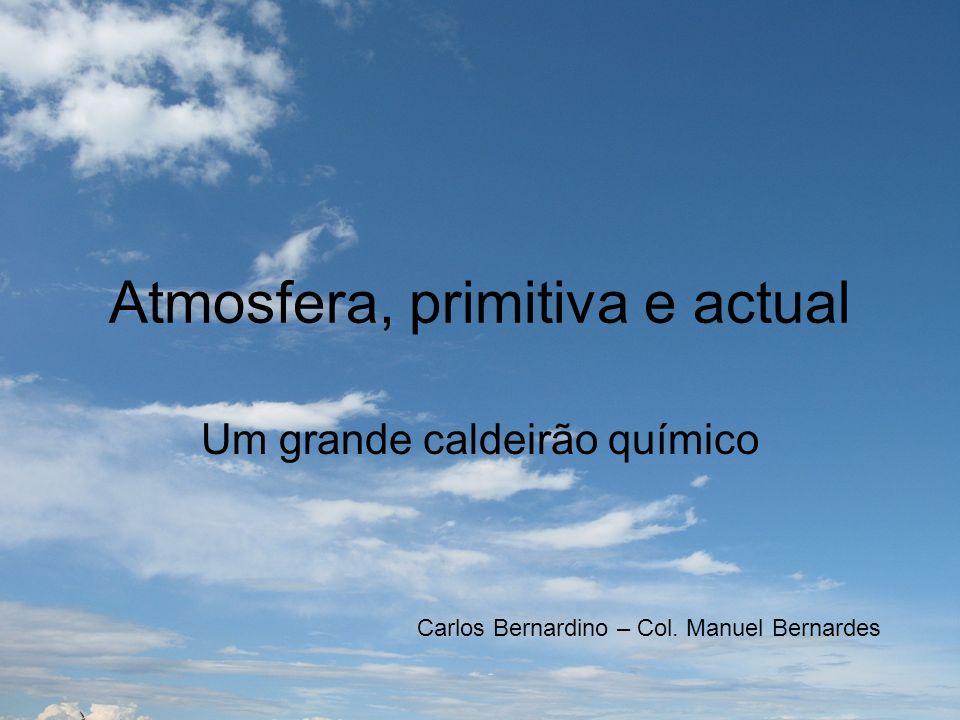 Atmosfera, primitiva e actual Um grande caldeirão químico Carlos Bernardino – Col. Manuel Bernardes