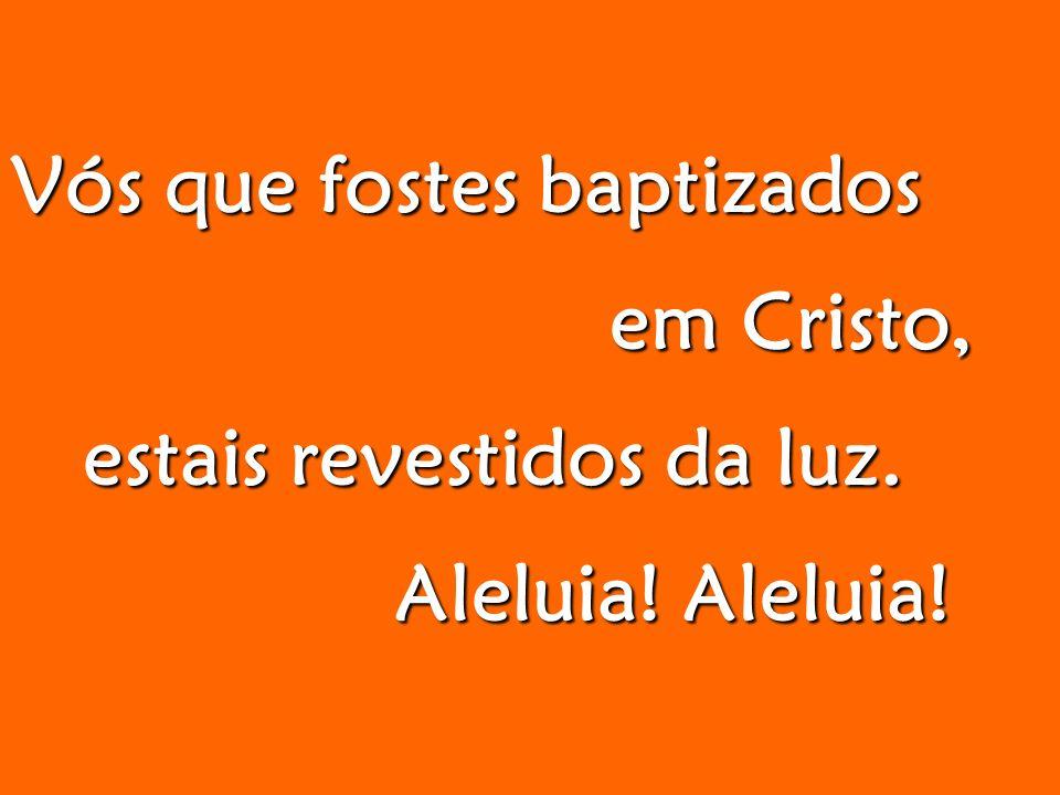 Vós que fostes baptizados em Cristo, em Cristo, estais revestidos da luz.