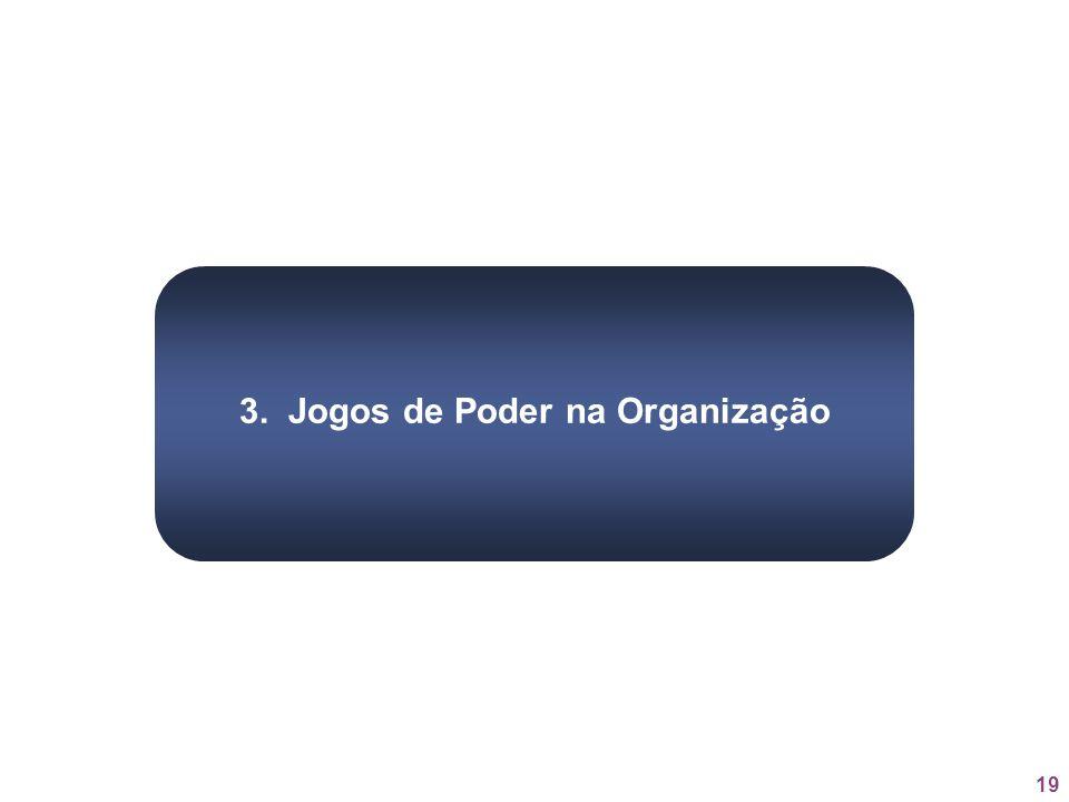 19 3. Jogos de Poder na Organização