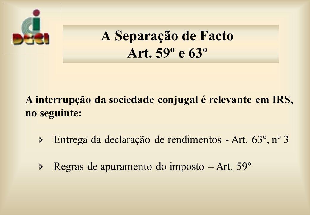 A Separação de Facto Art.