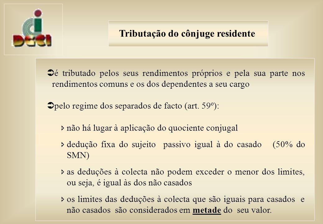 Deduções à colecta – regras gerais (Art.