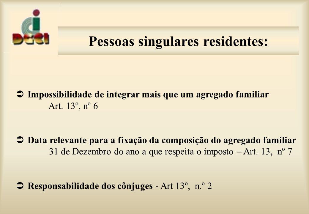 Pessoas ligadas por laços de parentesco que não fazem parte do agregado familiar mas relevam para efeitos fiscais: ascendentes (art.