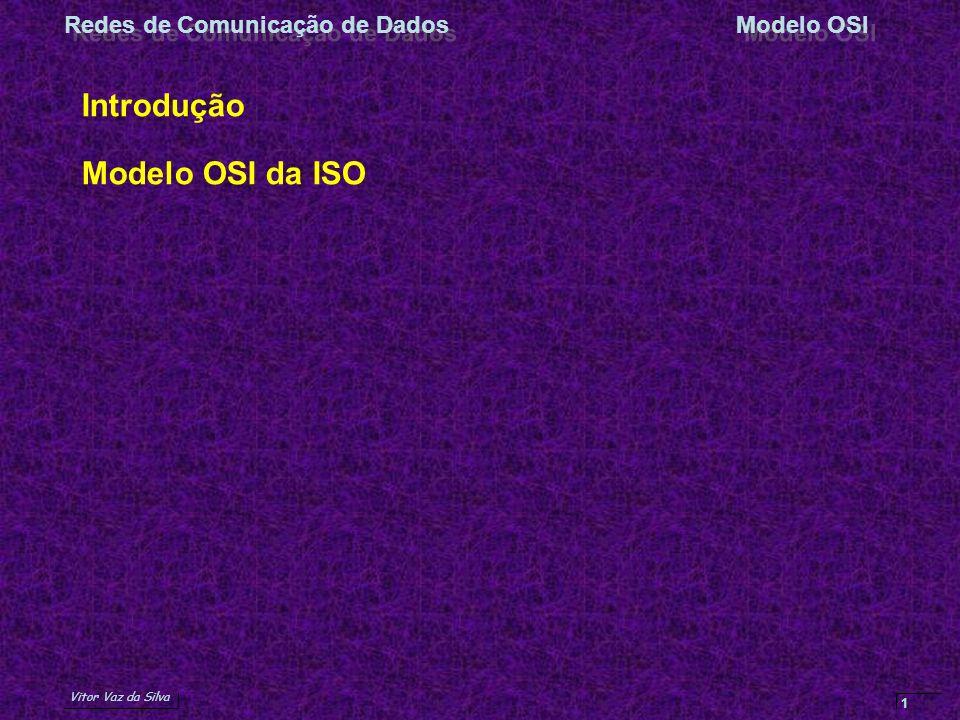 Vitor Vaz da Silva Redes de Comunicação de DadosModelo OSI 1 Introdução Modelo OSI da ISO