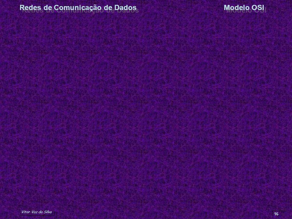 Vitor Vaz da Silva Redes de Comunicação de DadosModelo OSI 16