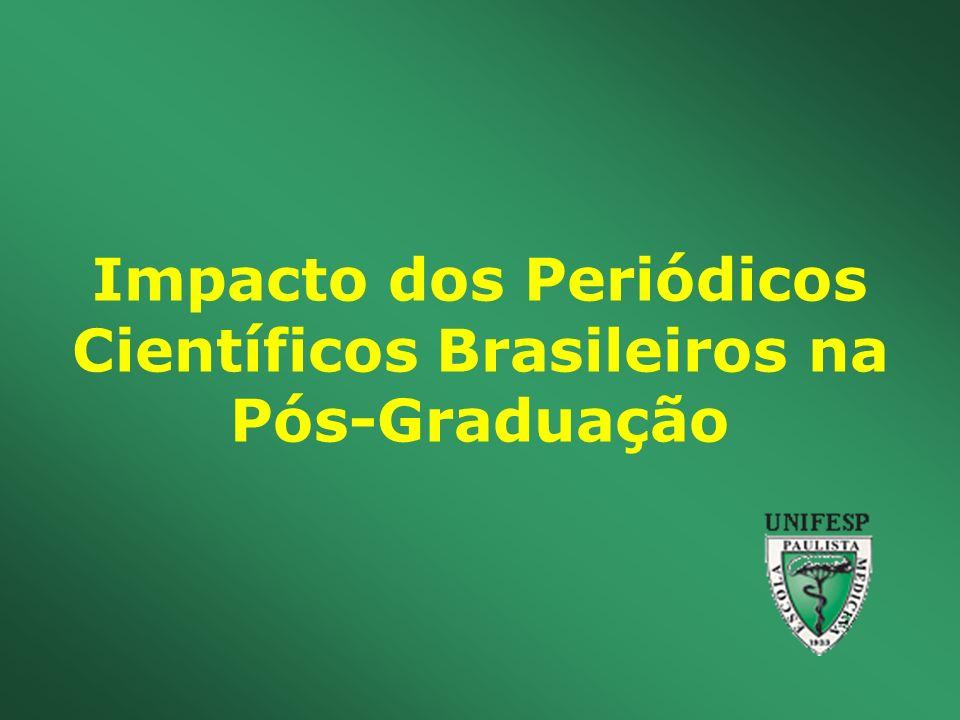 Impacto dos Periódicos Científicos Brasileiros na Pós-Graduação