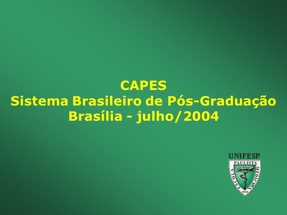 CAPES Sistema Brasileiro de Pós-Graduação Brasília - julho/2004