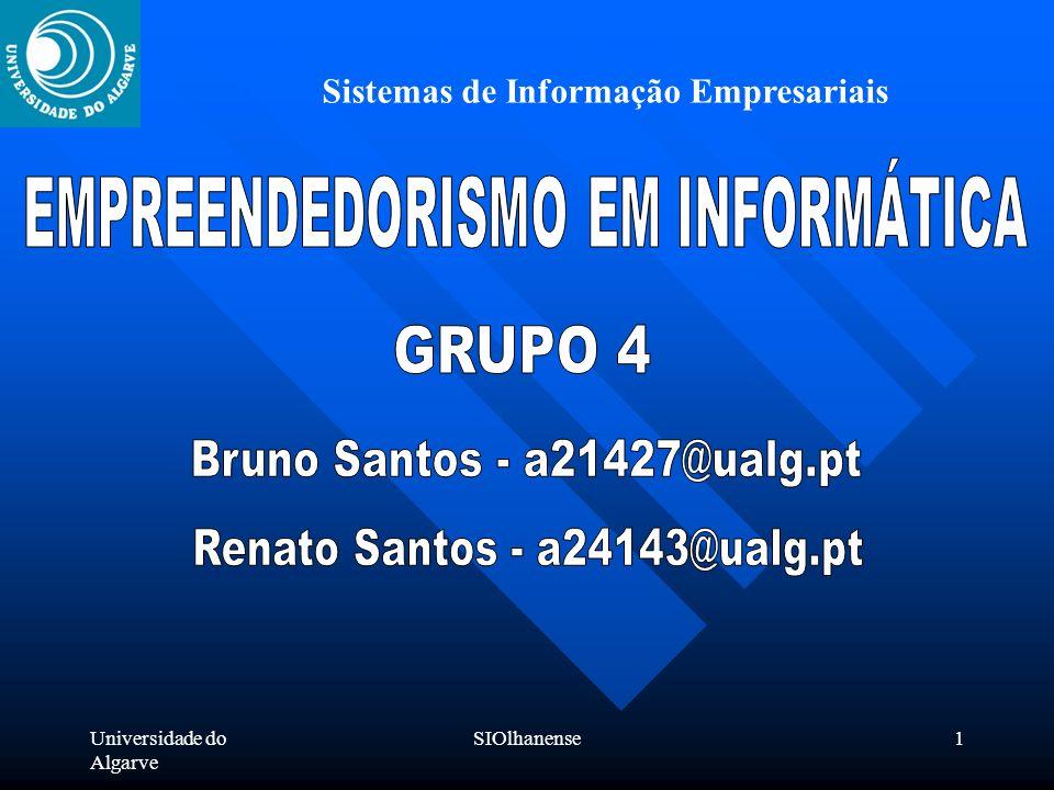 Universidade do Algarve SIOlhanense1 Sistemas de Informação Empresariais
