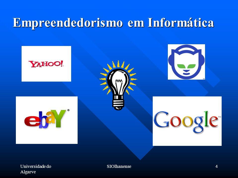 Universidade do Algarve SIOlhanense4 Empreendedorismo em Informática