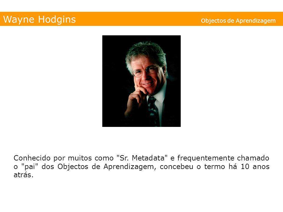 Wayne Hodgins Objectos de Aprendizagem Conhecido por muitos como