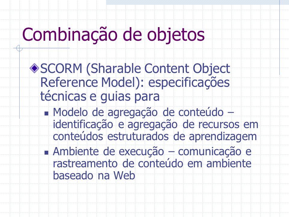 Combinação de objetos SCORM (Sharable Content Object Reference Model): especificações técnicas e guias para Modelo de agregação de conteúdo – identifi