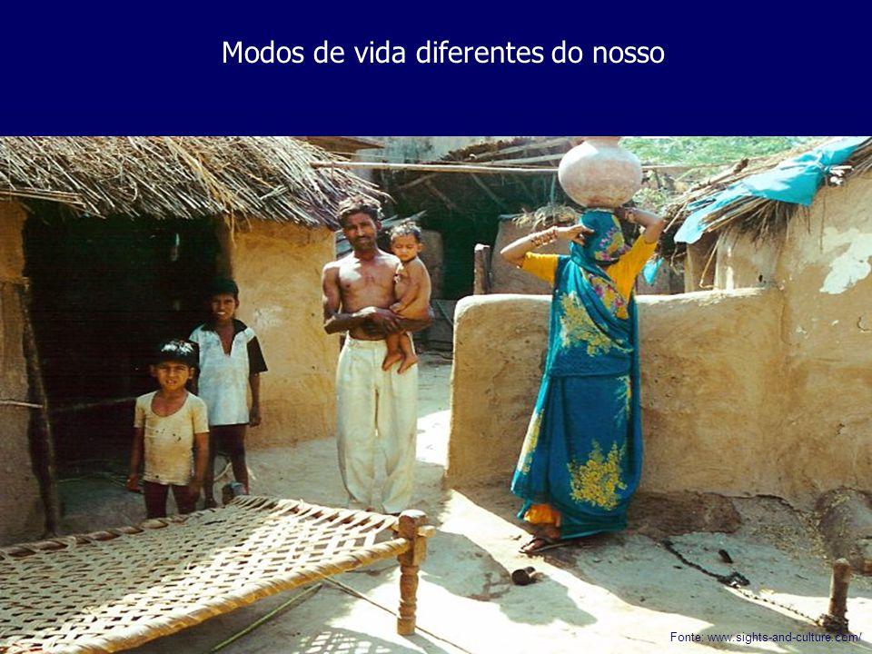 Modos de vida diferentes do nosso Fonte: www.sights-and-culture.com/