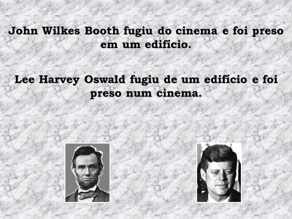 Lincoln morreu dentro de um cinema chamado Kennedy. Kennedy morreu num carro chamado Lincoln.