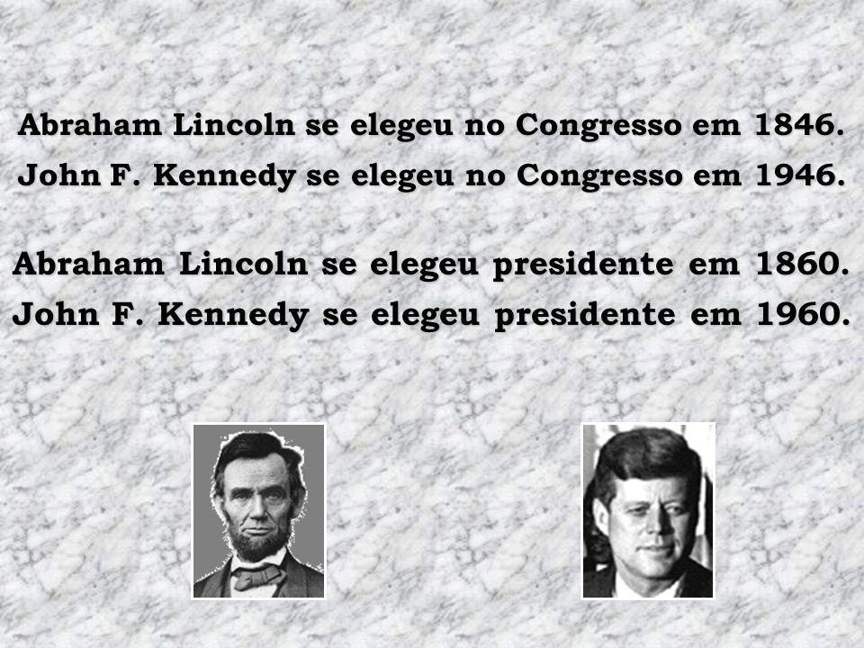 Abraham Lincoln se elegeu no Congresso em 1846.Abraham Lincoln se elegeu presidente em 1860.