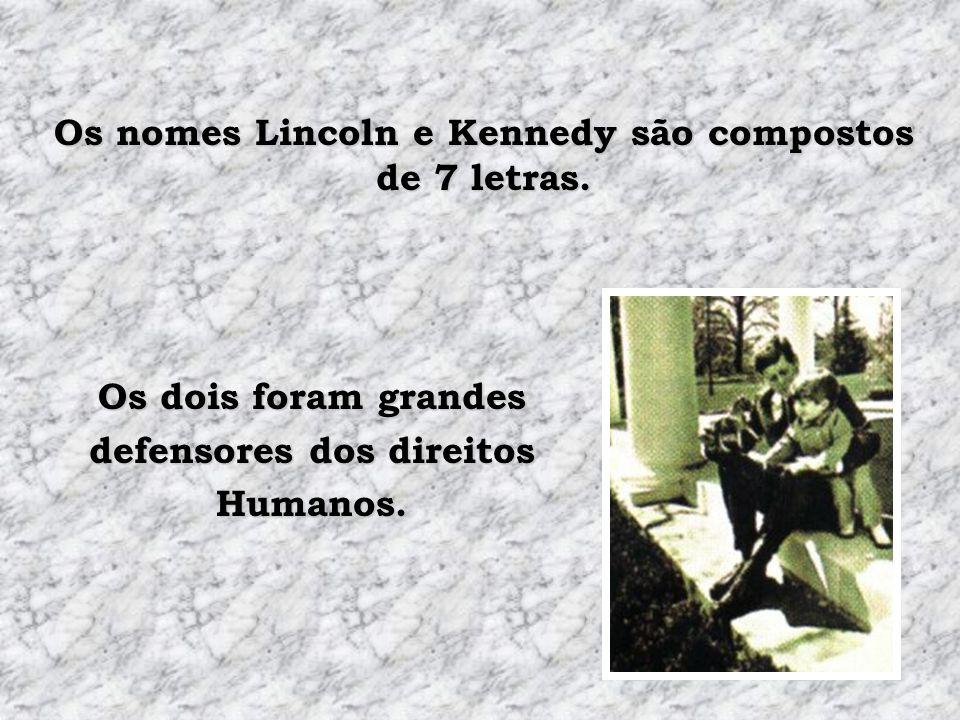 Abraham Lincoln se elegeu no Congresso em 1846. Abraham Lincoln se elegeu presidente em 1860. John F. Kennedy se elegeu no Congresso em 1946. John F.