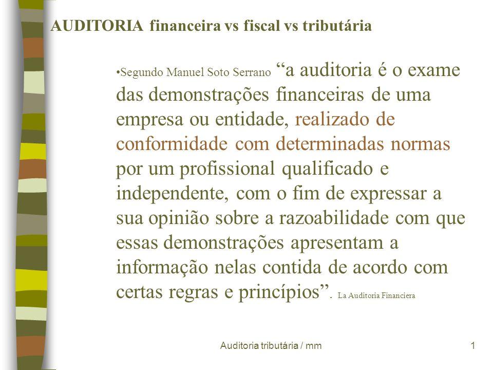 Auditoria tributária / mm21 Modelo de auditoria tributária Elaboração dos suportes finais Corresponde à elaboração do relatório e respectiva proposta de correcção.