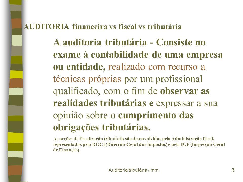 Auditoria tributária / mm23 Procedimentos:.