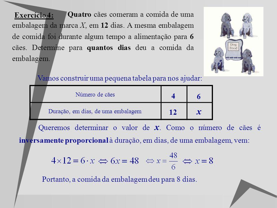 Exercício 3: Considere a seguinte função de proporcionalidade inversa: 3.1) Justifique que se trata de uma função de proporcionalidade inversa. É uma