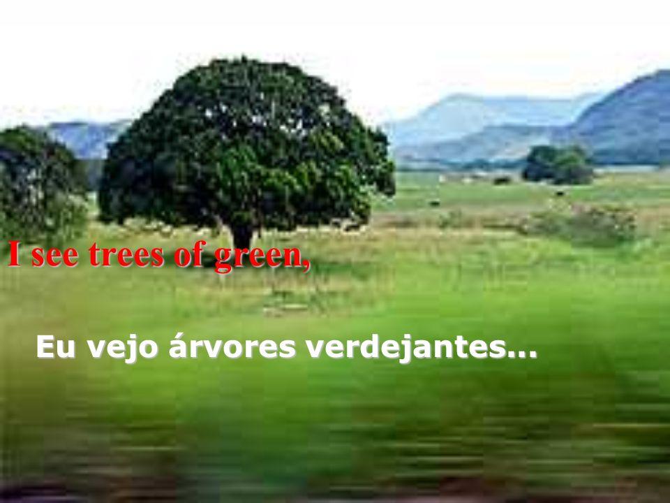 I see trees of green, Eu vejo árvores verdejantes...