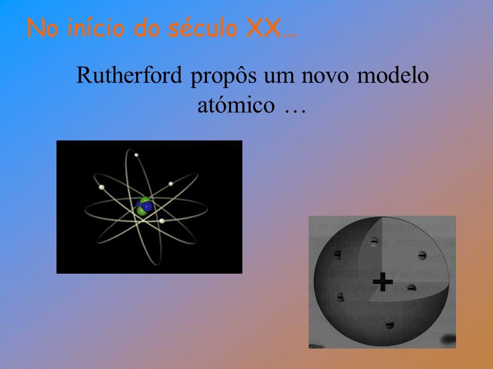Rutherford propôs um novo modelo atómico … No início do século XX…
