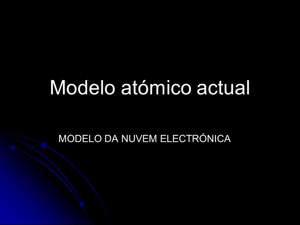 Modelo atómico actual MODELO DA NUVEM ELECTRÓNICA