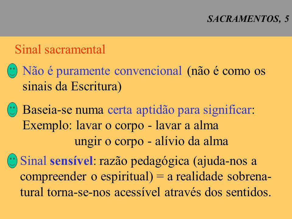 SACRAMENTOS, 6 Os sacramentos são sinais sensíveis.