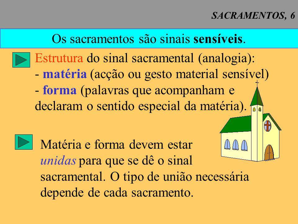 SACRAMENTOS, 7 Instituição dos sacramentos 1.