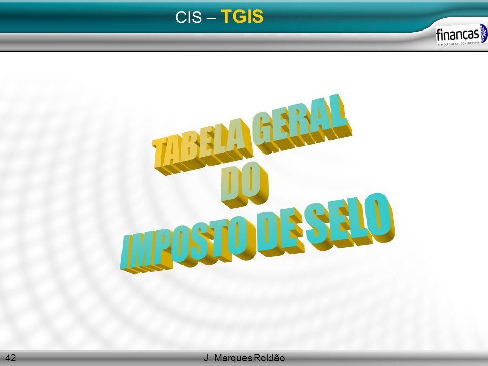 J. Marques Roldão42 CIS – TGIS