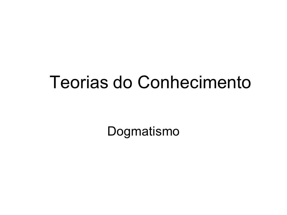 Teorias do Conhecimento Dogmatismo