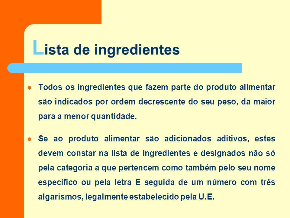 A Informação Nutricional