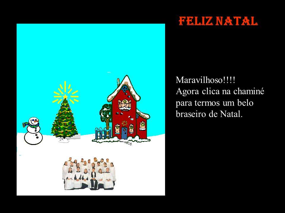 Feliz Natal Maravilhoso!!!! Agora clica na chaminé para termos um belo braseiro de Natal.