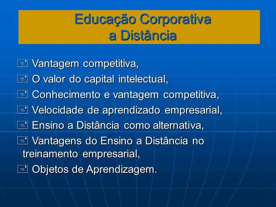 Educação Corporativa a Distância Vantagem competitiva, Vantagem competitiva, O valor do capital intelectual, O valor do capital intelectual, Conhecime